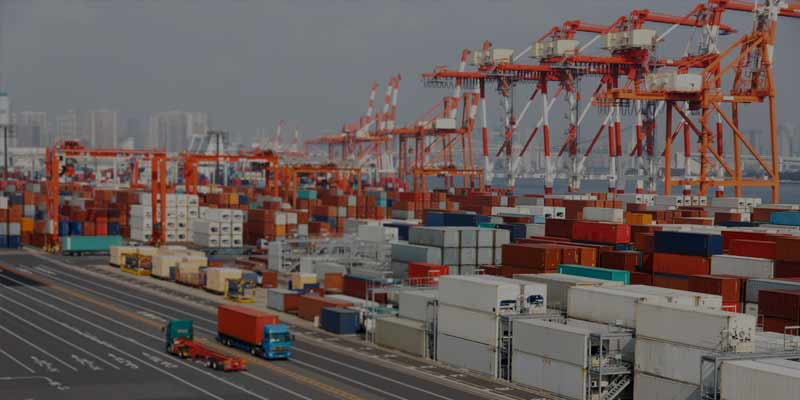 Container Terminal Throughput Evaluation with AnyLogic